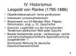 iv historismus leopold von ranke 1795 18861