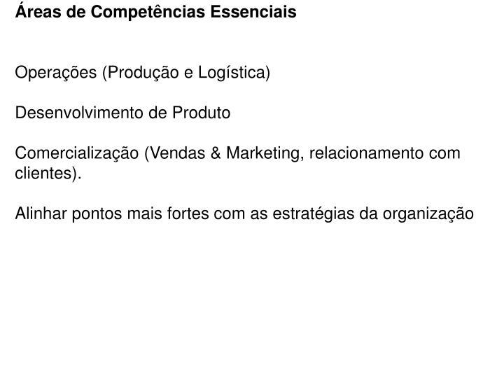 Áreas de Competências Essenciais