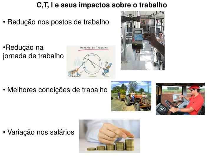 C,T, I e seus impactos sobre o trabalho