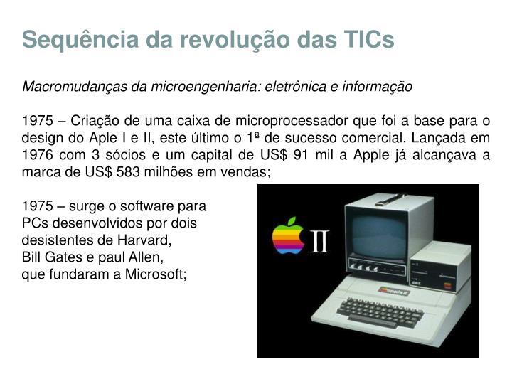 Sequência da revolução das TICs