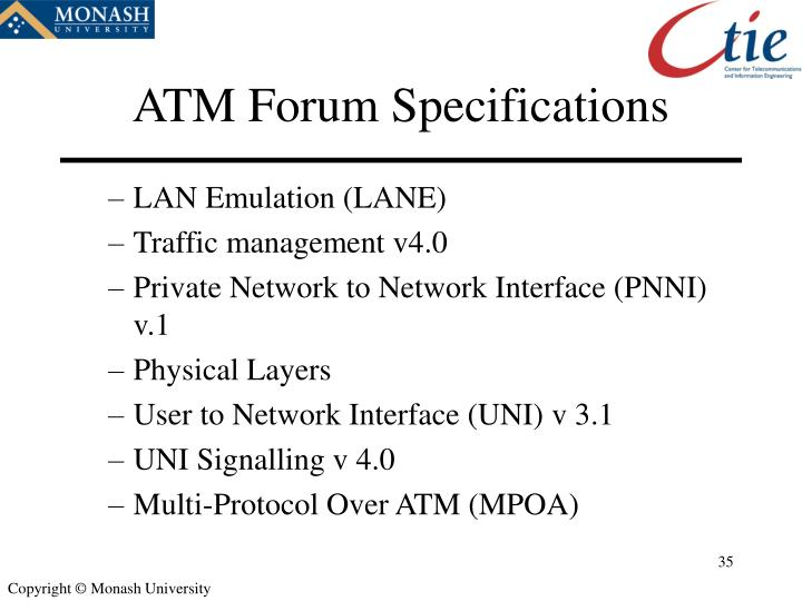 ATM Forum Specifications