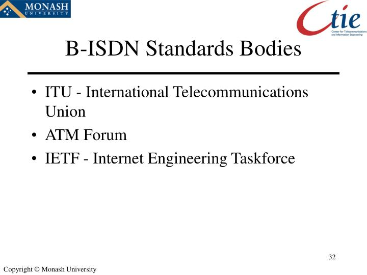 B-ISDN Standards Bodies