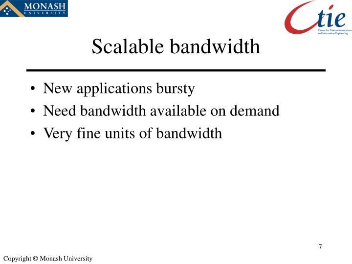 Scalable bandwidth