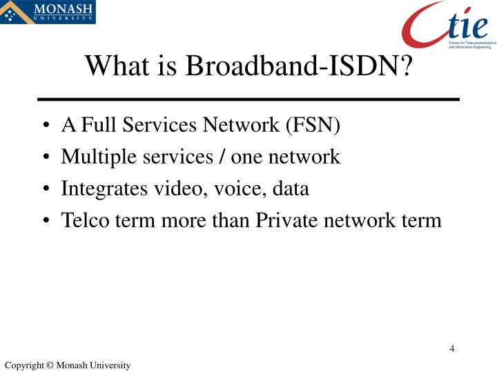 What is Broadband-ISDN?