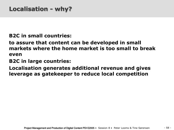 Localisation - why?