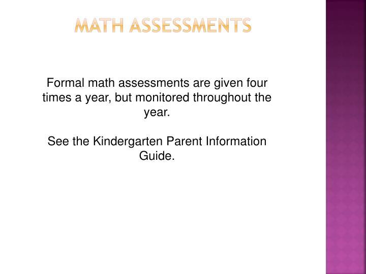 Math Assessments