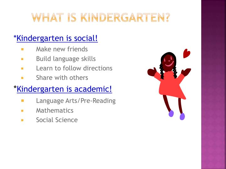 What is kindergarten