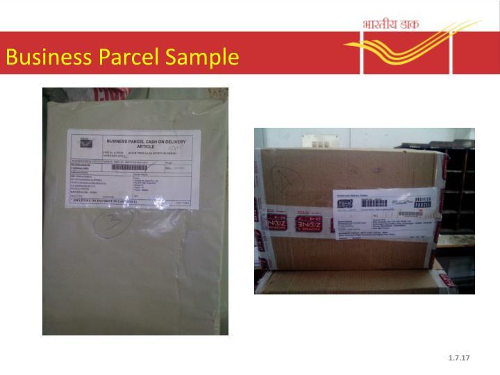 Business Parcel Sample