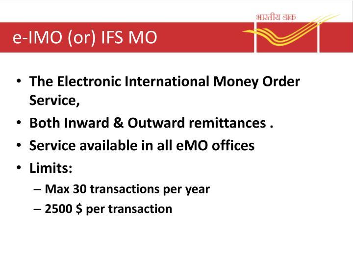 e-IMO (or) IFS MO