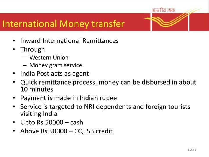 International Money transfer