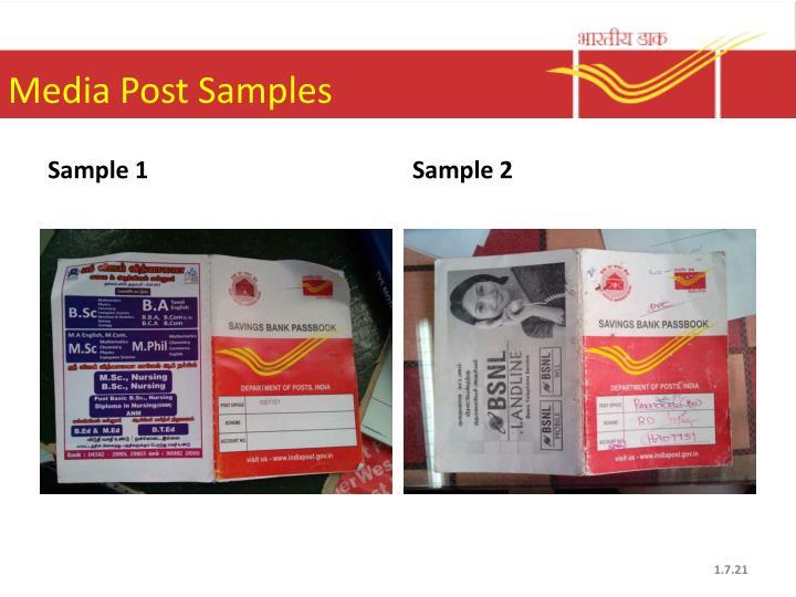 Media Post Samples