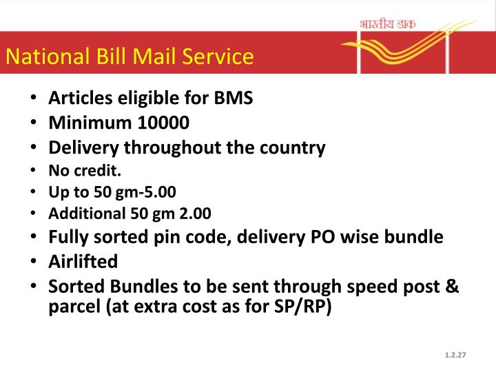 National Bill Mail Service