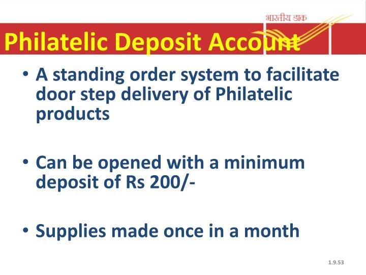 Philatelic Deposit Account