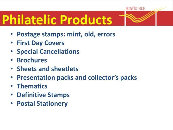 Philatelic Products