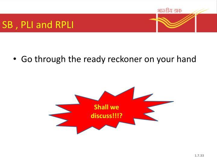 SB , PLI and RPLI