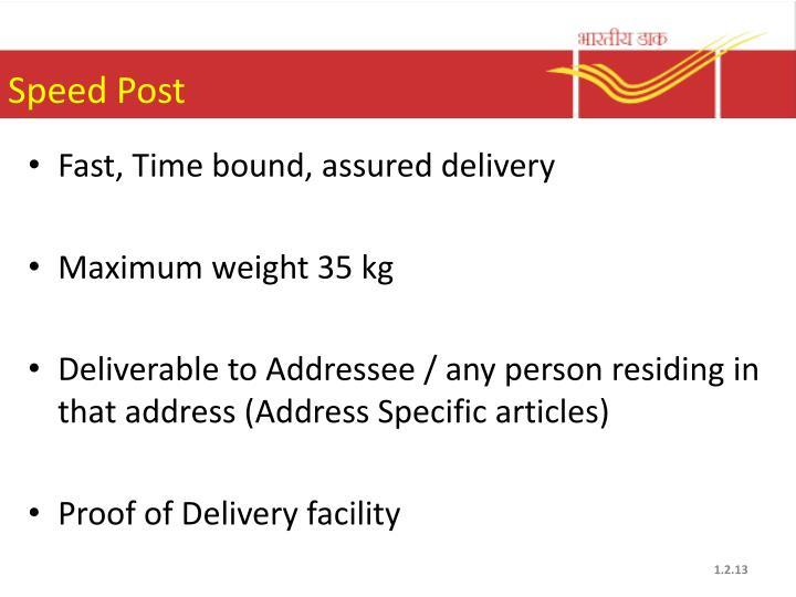 Speed Post