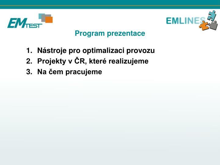 Program prezentace