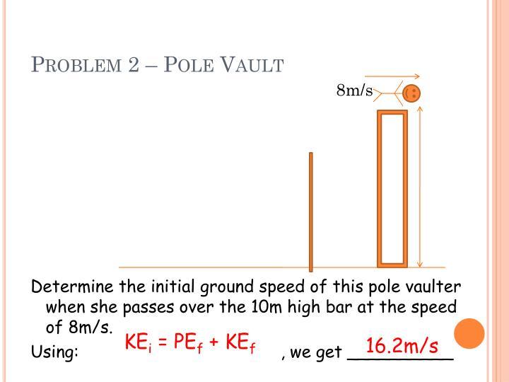 Problem 2 – Pole Vault