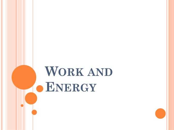 work and energy