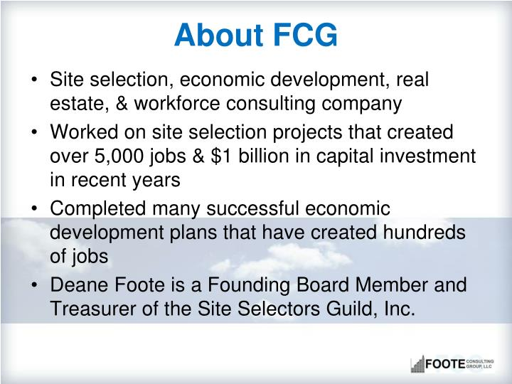 About fcg