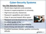 cyber security systems