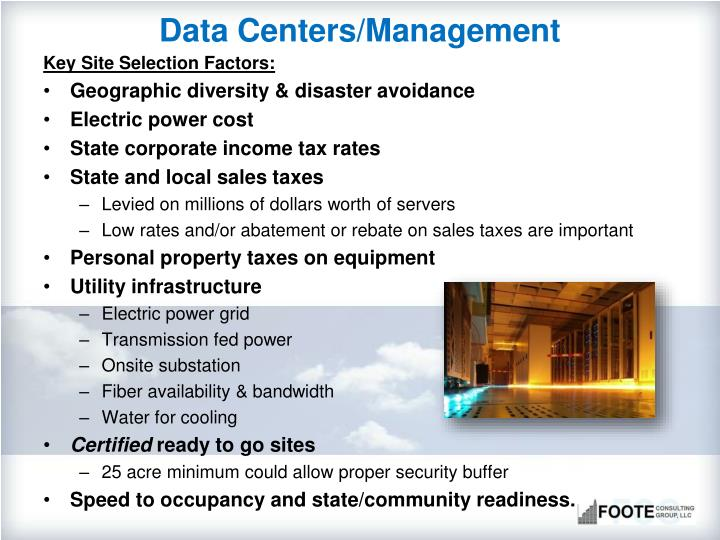 Data Centers/Management