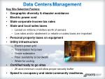 data centers management