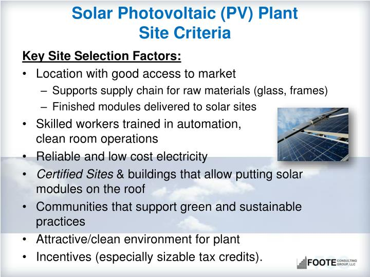 Solar Photovoltaic (PV) Plant