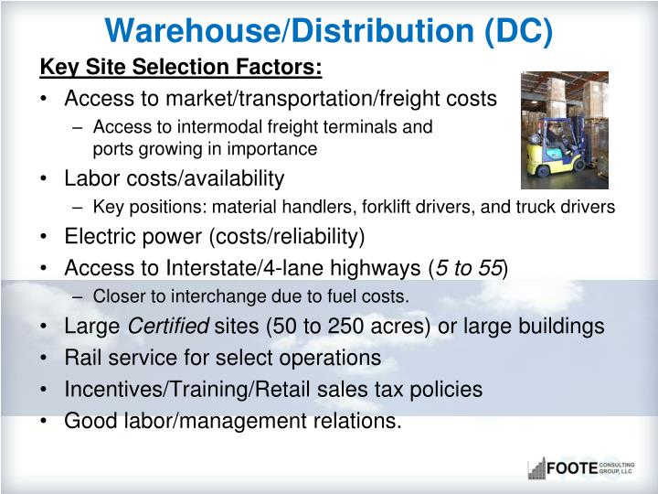 Warehouse/Distribution (DC)