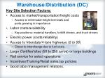 warehouse distribution dc