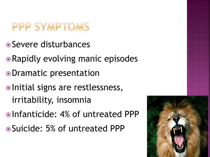 PPP Symptoms
