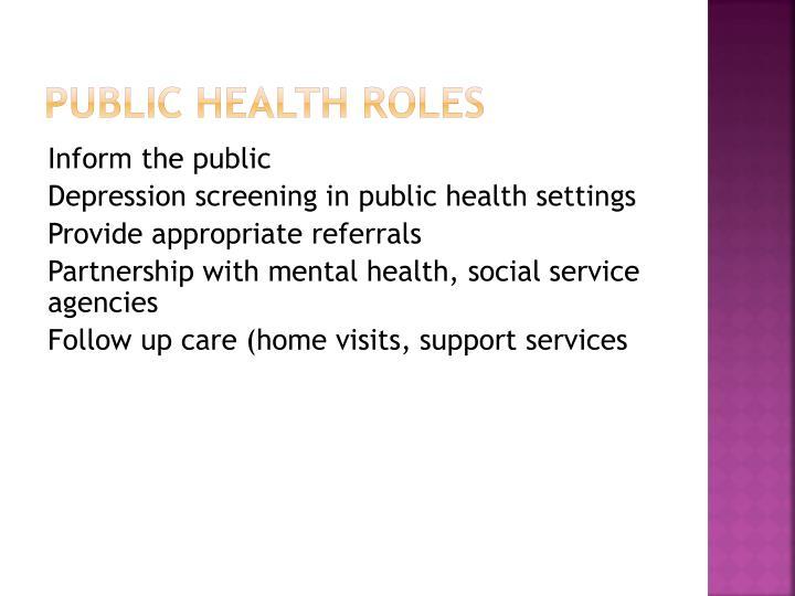 Public Health Roles