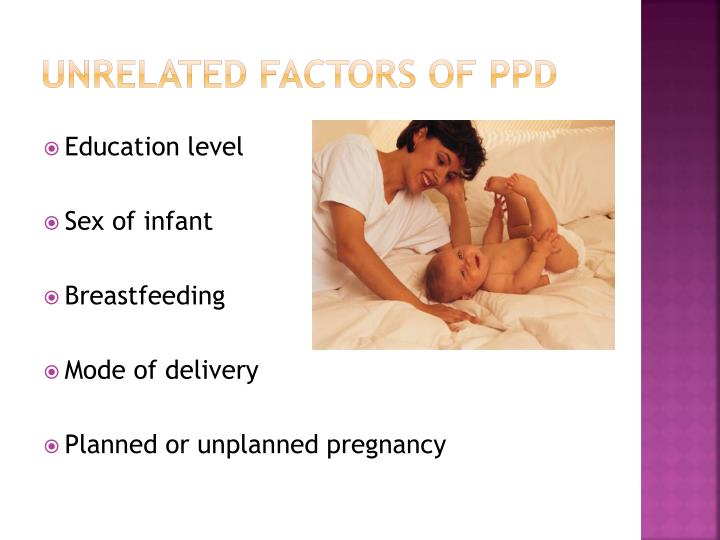 Unrelated Factors of PPD
