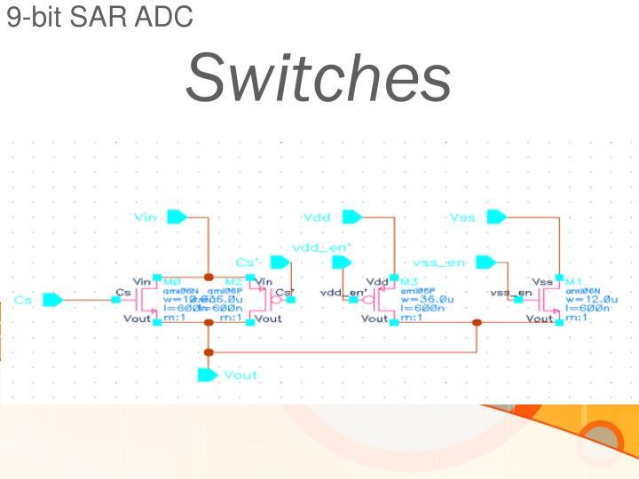 9-bit SAR ADC