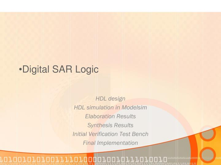 Digital SAR Logic