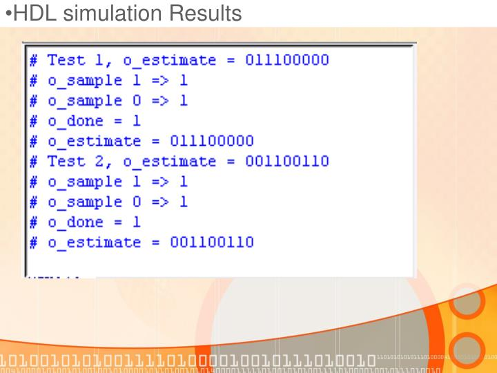 HDL simulation Results