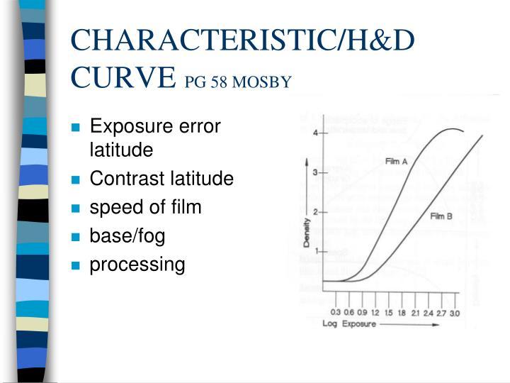 CHARACTERISTIC/H&D CURVE