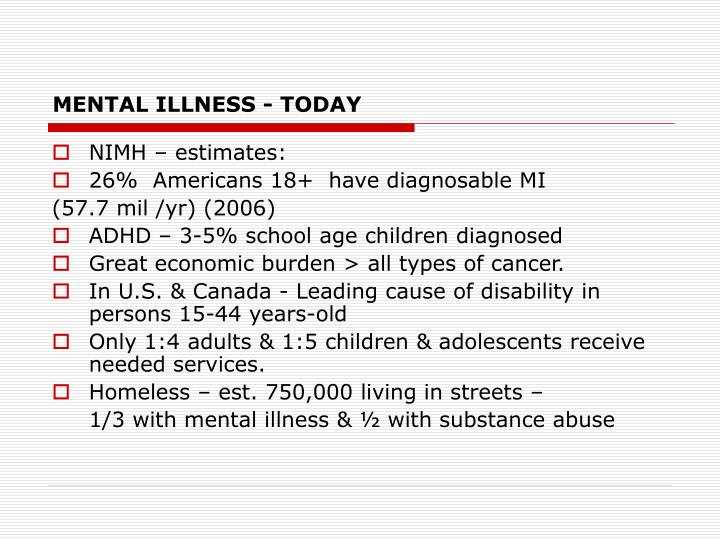 Mental illness today