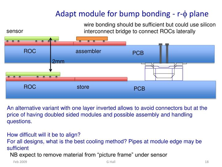 Adapt module for bump bonding - r-