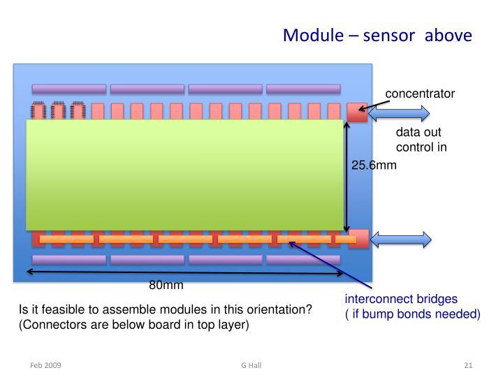 Module – sensor  above