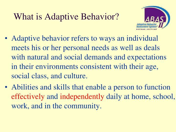 adaptive behavior What is adaptive behavior what does adaptive behavior mean adaptive behavior meaning - adaptive behavior definition - adaptive behavior explanation.