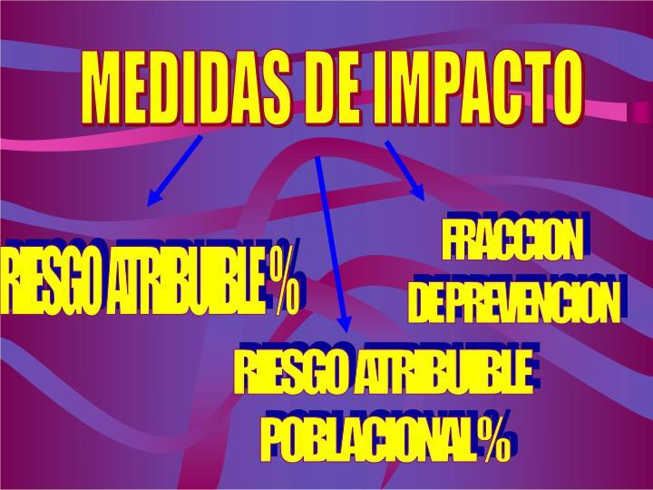 MEDIDAS DE IMPACTO