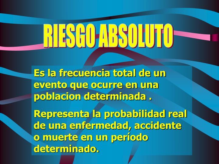 RIESGO ABSOLUTO