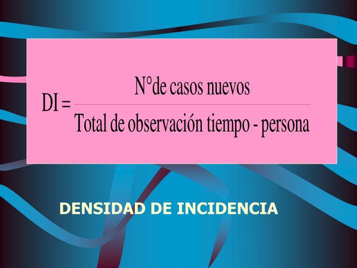 DENSIDAD DE INCIDENCIA