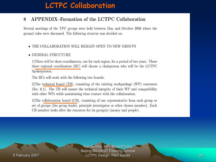 LCTPC Collaboration