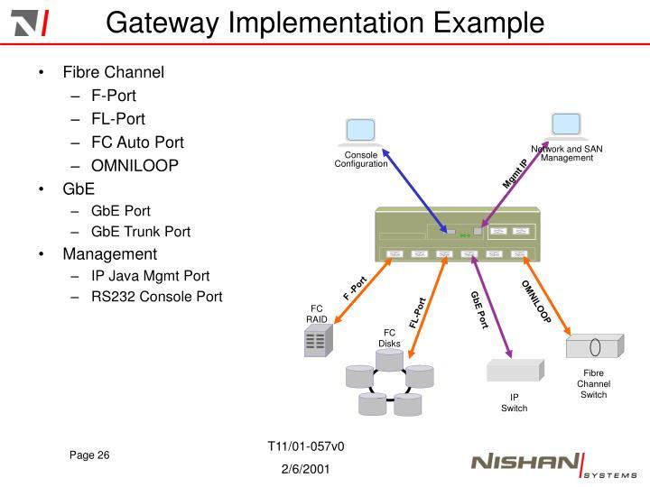 Gateway Implementation Example