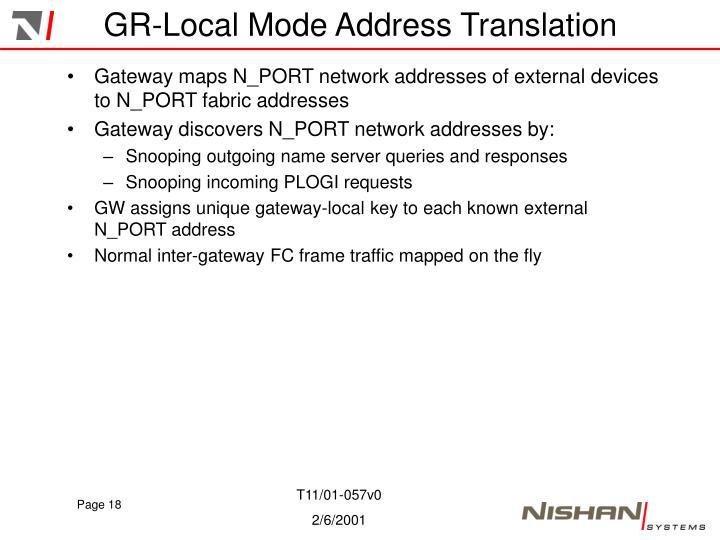GR-Local Mode Address Translation