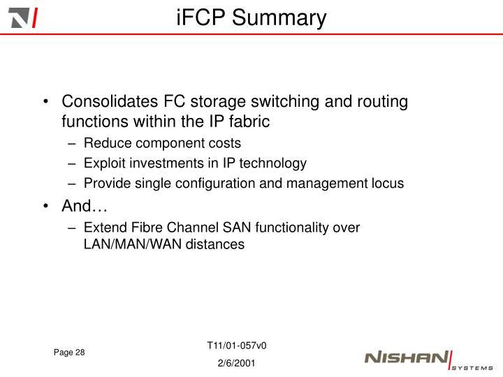 iFCP Summary