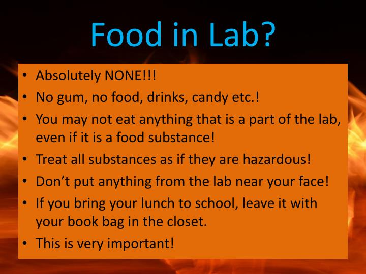 Food in Lab?