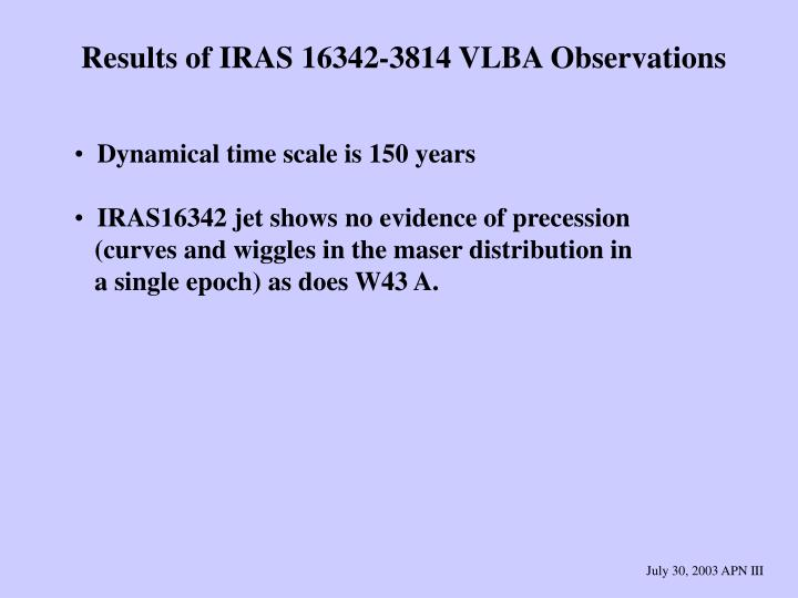 Results of IRAS 16342-3814 VLBA Observations